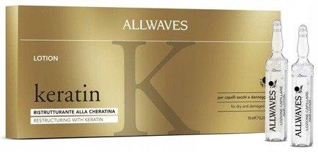 Allwaves Keratin Ampułki do włosów 12 sztuk