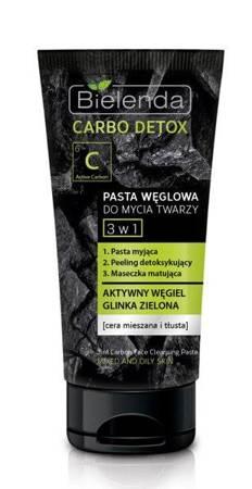 Bielenda Carbo Detox Pasta węglowa do mycia twarzy 3w1 150 ml