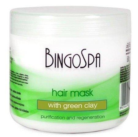 BingoSpa Maska do włosów z zieloną glinką 500 g